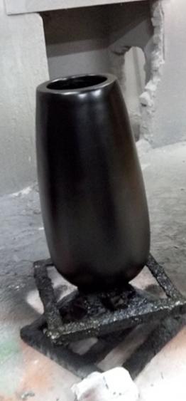 玻璃钢黑色小口径花盆