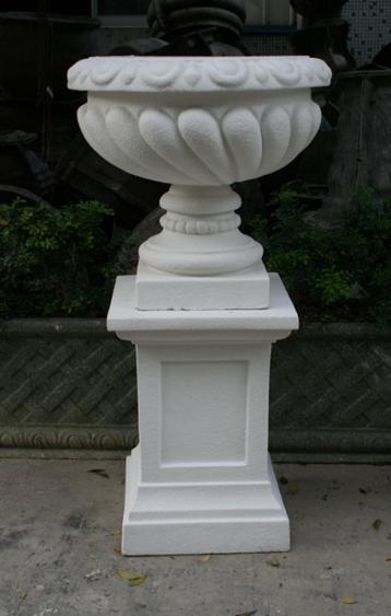 玻璃钢白色砂岩花盆