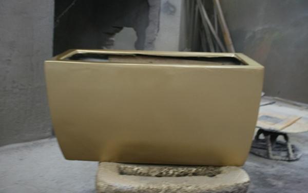 玻璃钢金色花槽