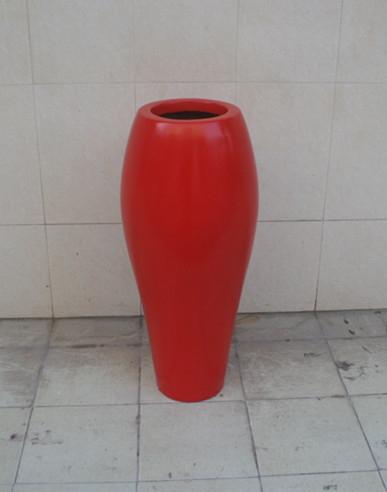 玻璃钢红色小口径花盆