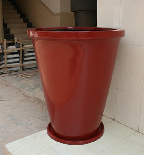 玻璃钢红色花盆