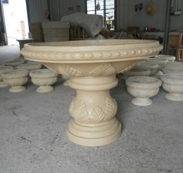 乳白色砂岩大花盆