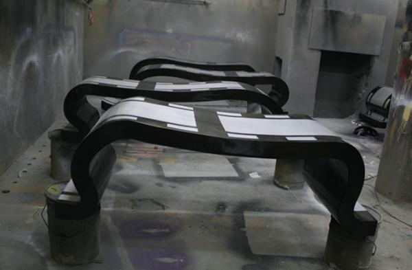 玻璃钢胶圈座椅组合