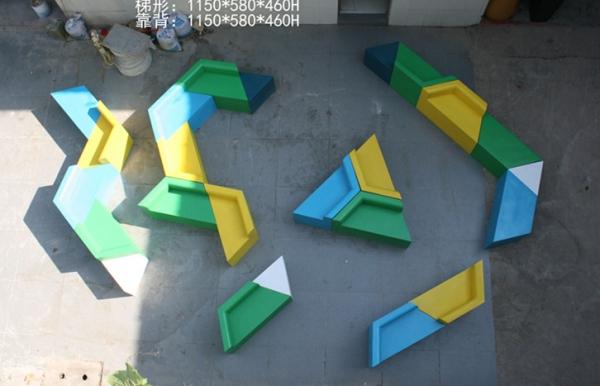 玻璃钢彩色玩具座椅