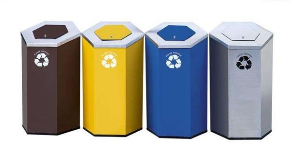 玻璃钢分类垃圾桶组合