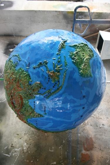大型地球仪玻璃钢工艺品雕塑