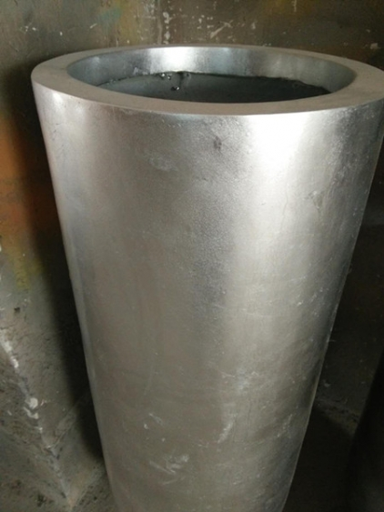 玻璃钢室内银色花盆