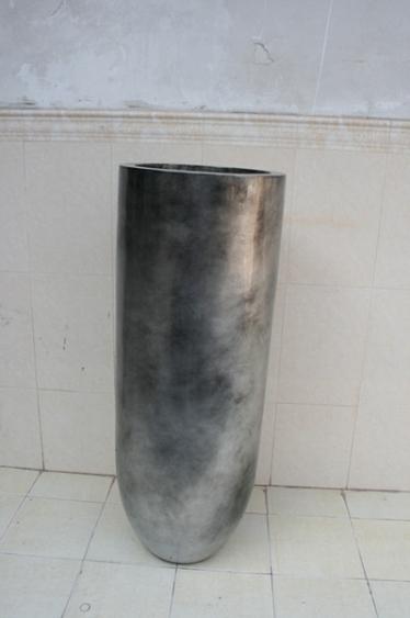 玻璃钢银色花瓶