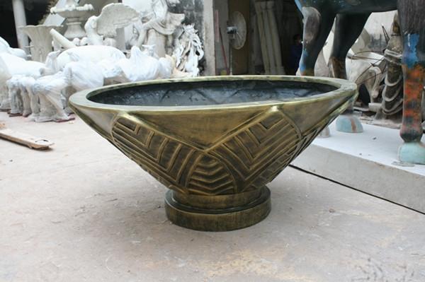 铜色玻璃钢花盆