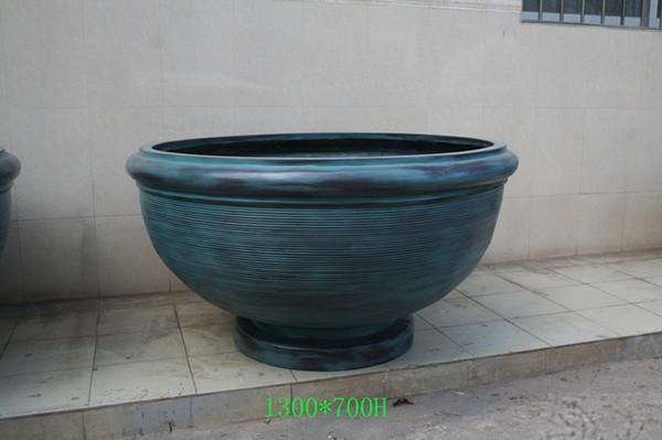 玻璃钢蓝色花盆