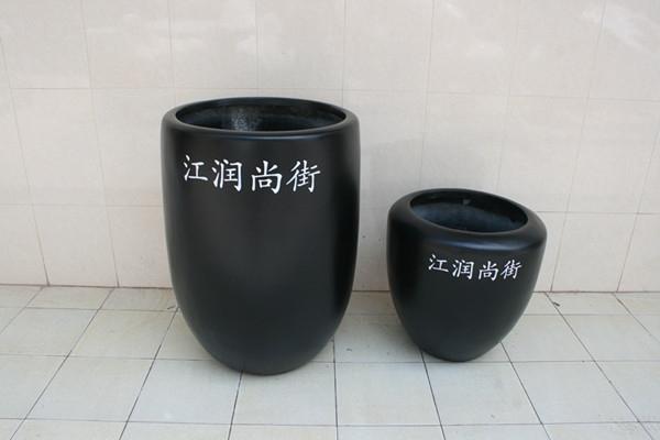 玻璃钢黑色组合花钵