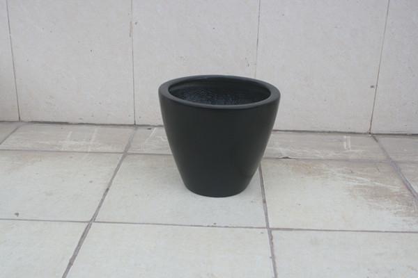 玻璃钢黑色花钵