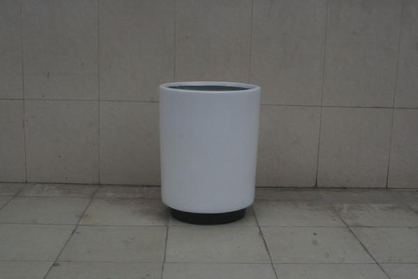 玻璃钢白色花钵