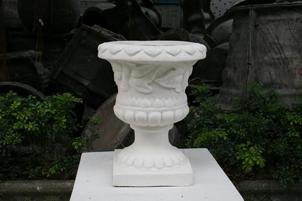 商场时尚花盆   白色玻璃钢花盆