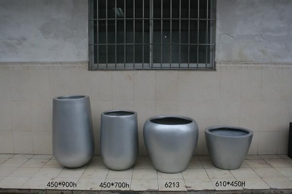 商场时尚花盆   玻璃钢花盆组合