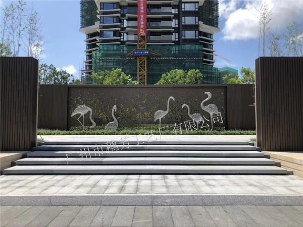不锈钢镂空户外流水景观装饰鱼摆件  不锈钢镂空仙鹤雕塑 园林景观金属动物装饰工艺品