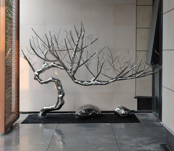 不锈钢园林景观抽象树装饰雕塑  304不锈钢动物装饰饰品  室内户外不锈钢工艺品摆件