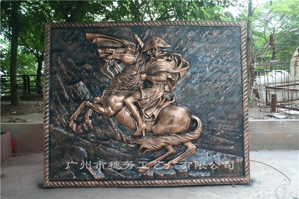 拿破仑玻璃钢人物浮雕
