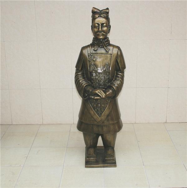 上海兵马俑玻璃钢雕塑