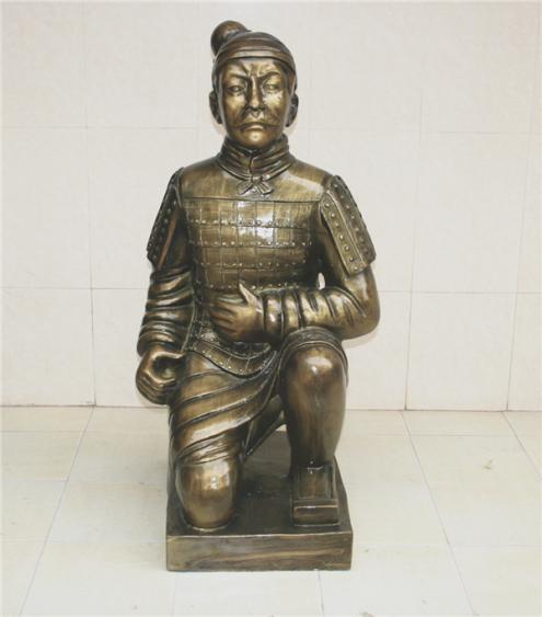 兵马俑跪姿玻璃钢雕塑