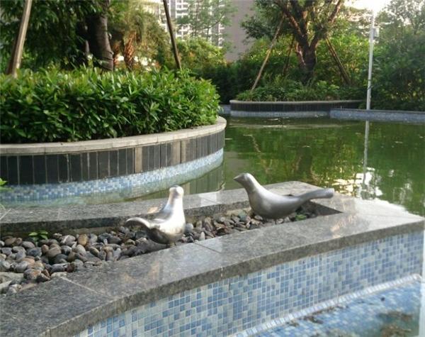 抽象动物小鸟不锈钢雕塑