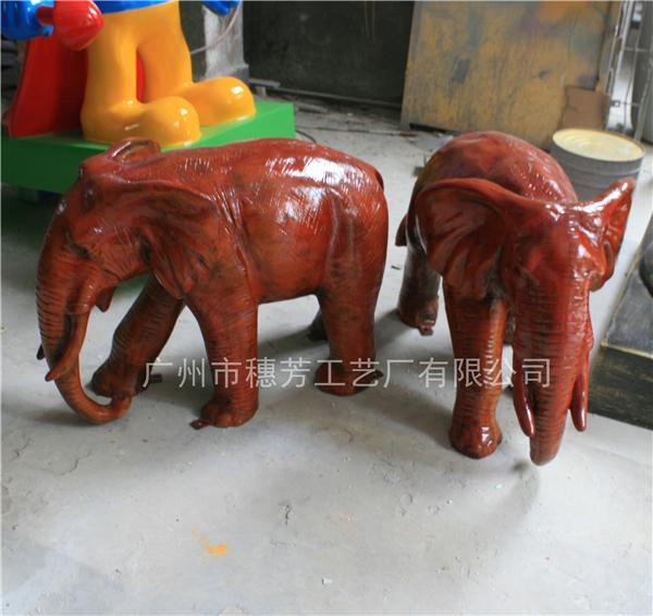 仿真动物大象玻璃钢雕塑