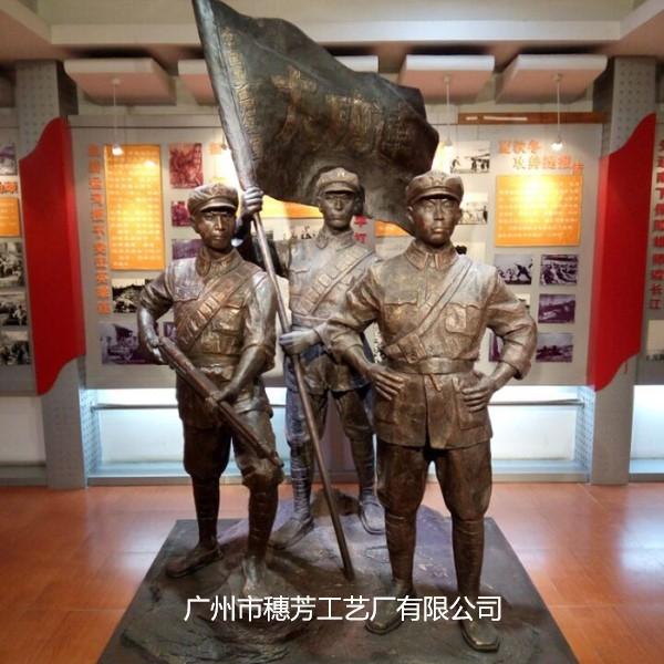 红色景区抗战士兵人物群雕