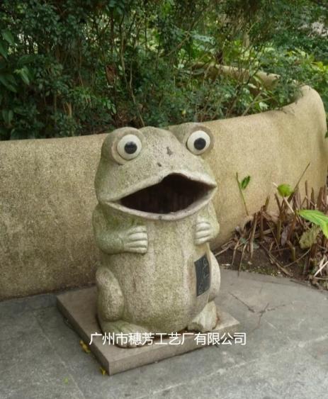 创意垃圾桶卡通青蛙造型园林景观摆件