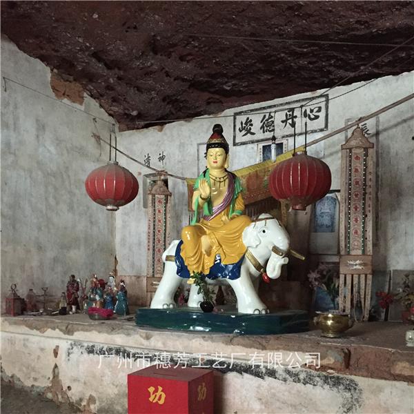 玻璃钢彩绘菩萨观世音神话人物玻璃钢雕塑寺庙神像定做厂家