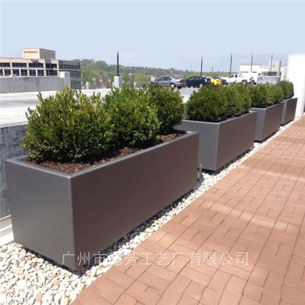 花槽长方形户外路政种植绿化玻璃钢花箱
