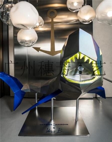展厅鲨鱼玻璃钢雕塑
