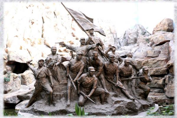 红军主题战士人物雕塑士兵连队文化建设主题摆件